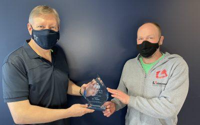 ICBA PHOTO: Jon Walker Picks Up Lincor's Gord Stewart Award
